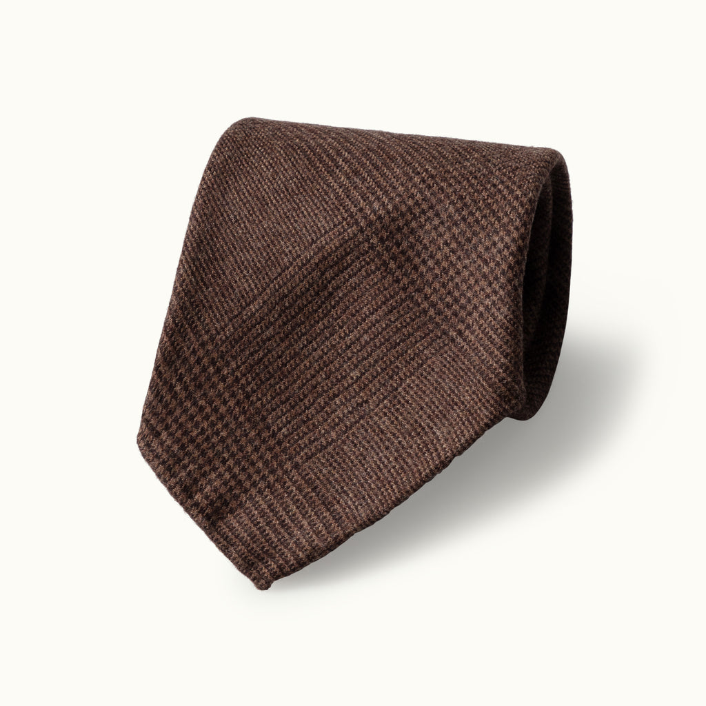 Chestnut Prince of Wales Fox Flannel tie