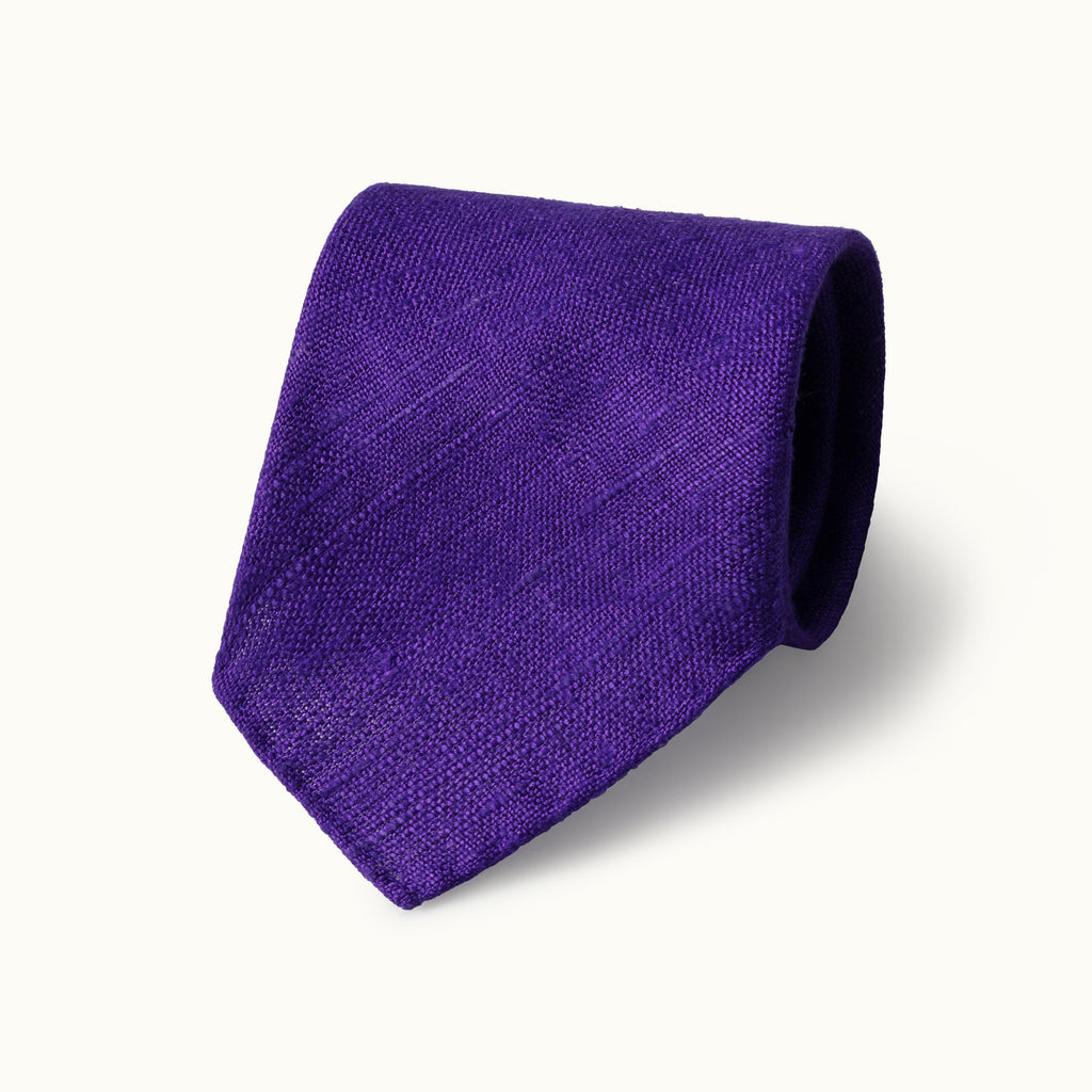 Purple Tussah Silk Tie