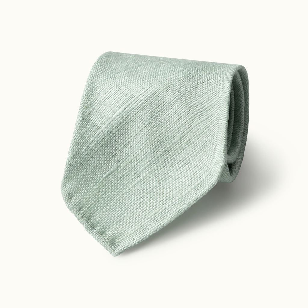 Mint Green Tussah Silk Tie