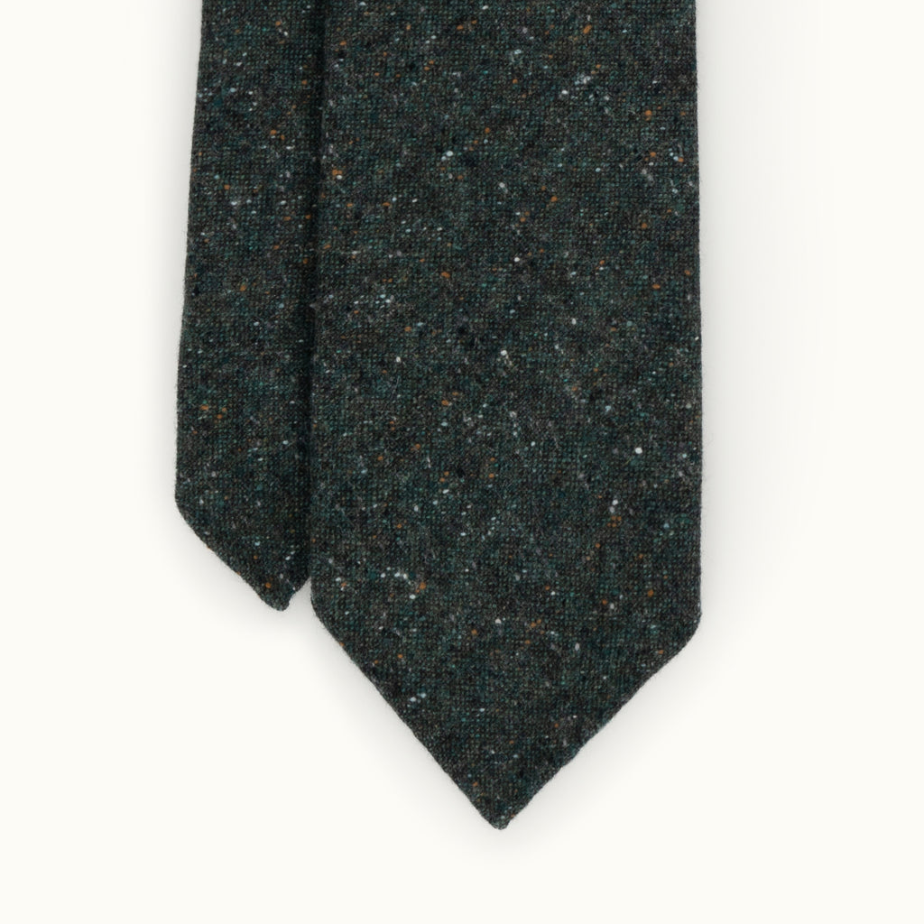 Green Donegal Cashmere Tie