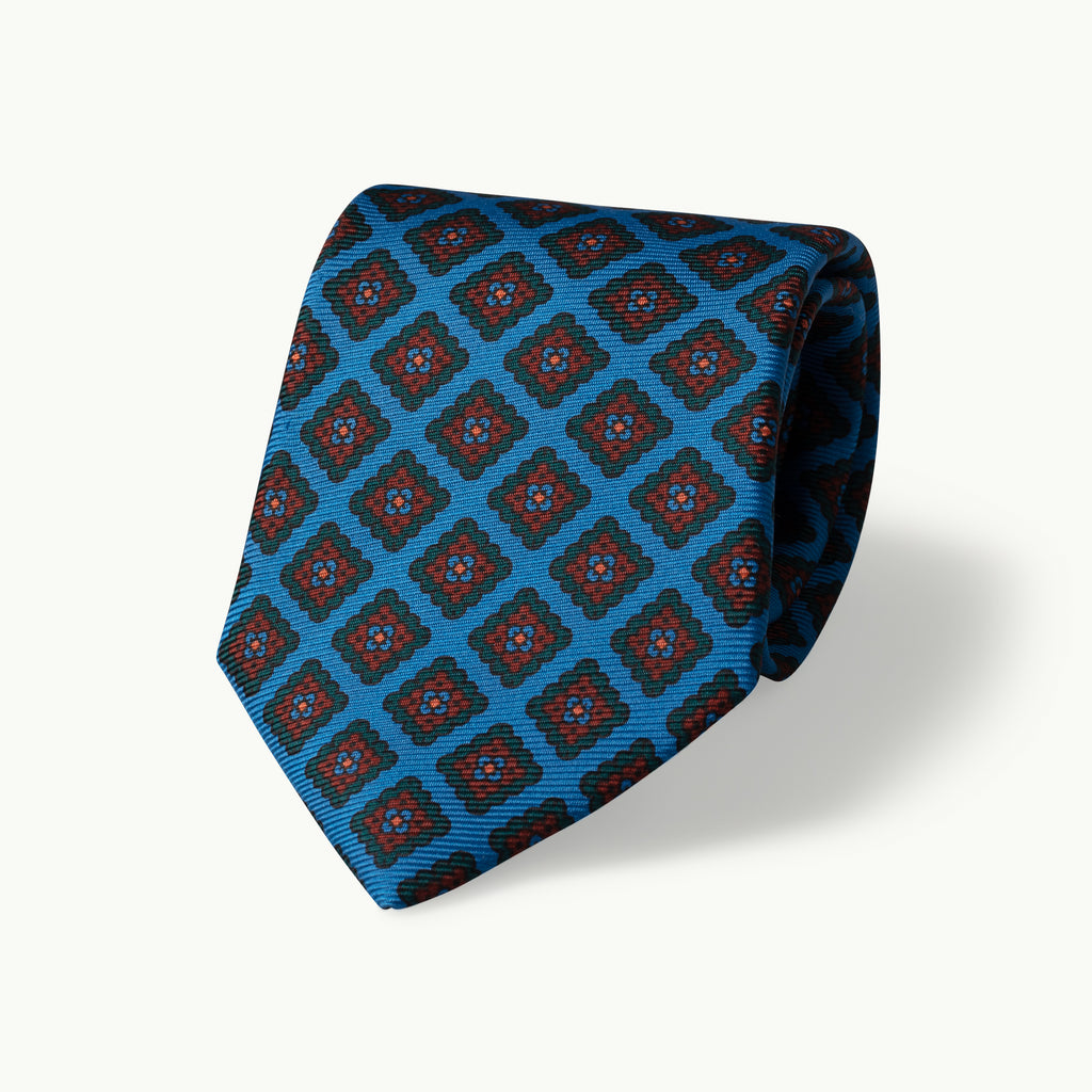 Madder blue diamond tie