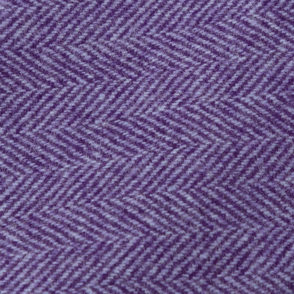 Purple herringbone cashmere tie
