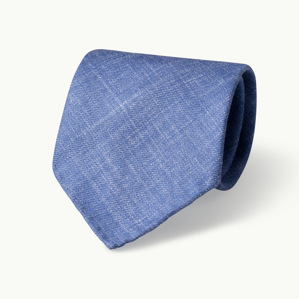 Light Blue Wool, Linen & Silk Tie