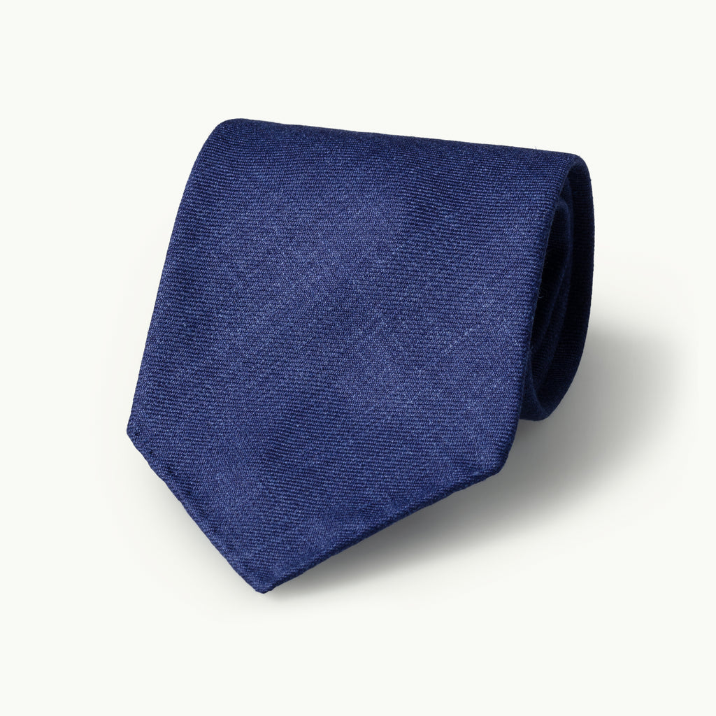 Blue Wool, Linen & Silk Tie