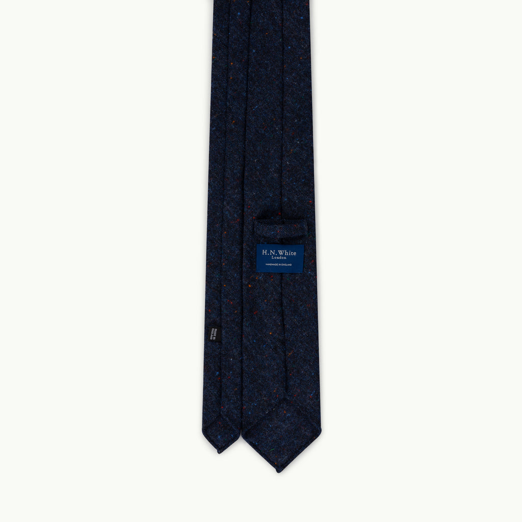 Navy Donegal Wool Tie