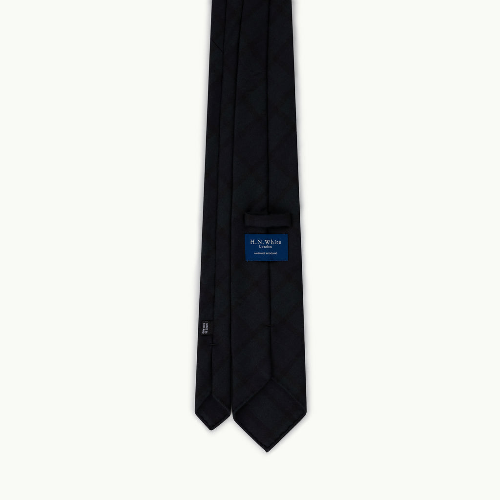 Black Watch Tartan Wool Tie