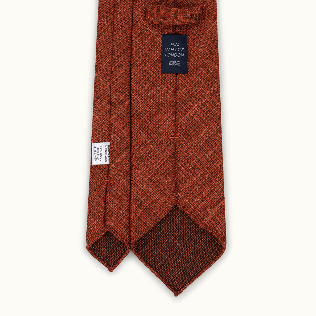 Copper Melange Wool, Linen & Silk Tie