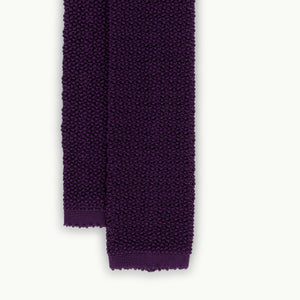 Purple Solid Knitted Tie