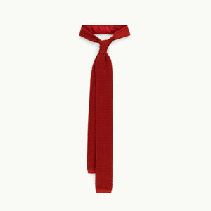 Rust Solid Knitted Tie