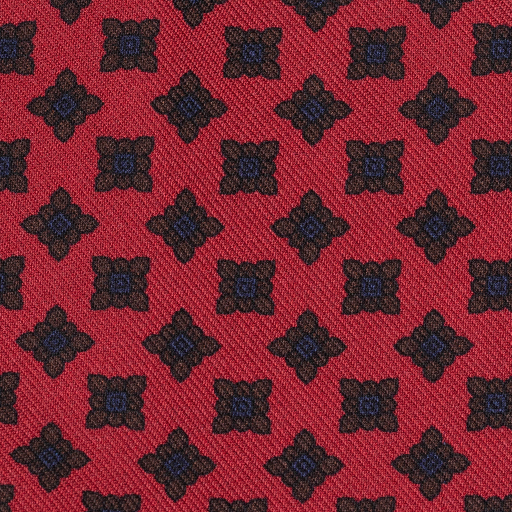 Dusty Red Tumbling Squares Madder Tie