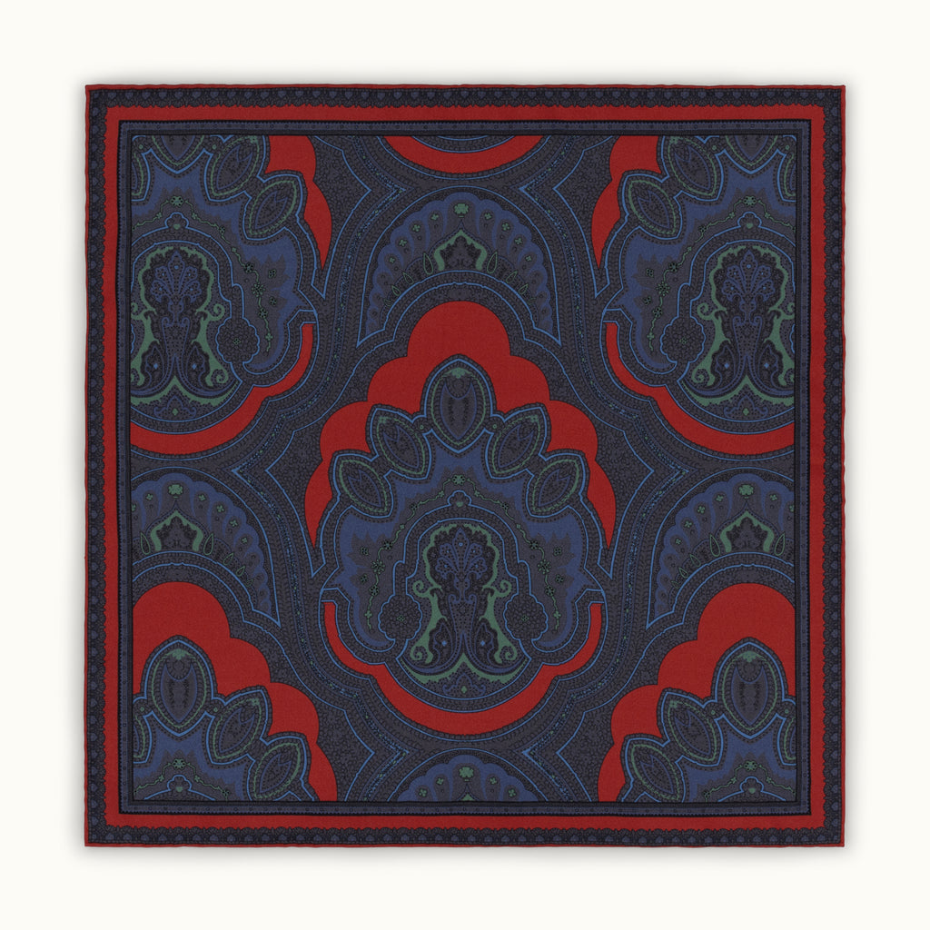 Dusty Red Ancient Madder Silk Pocket Square