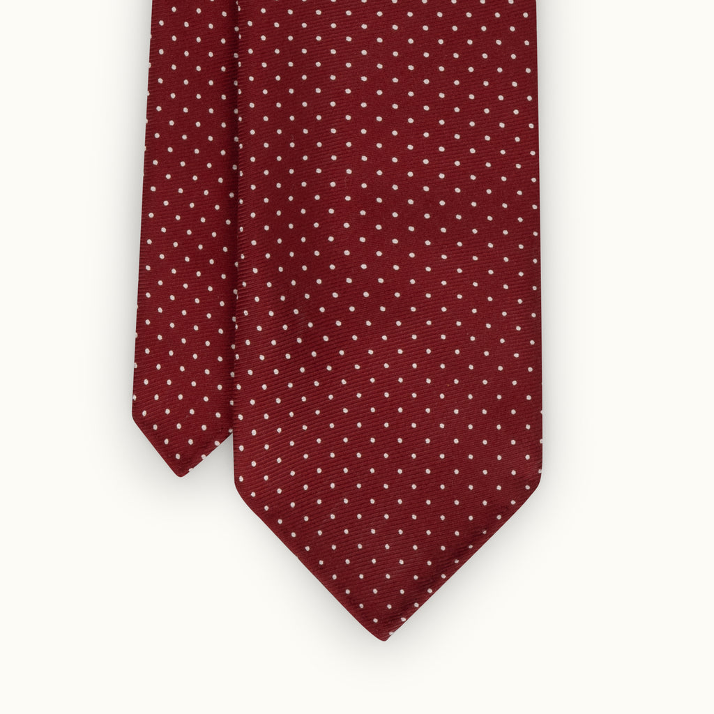 Red Spot 50oz Silk Print Tie