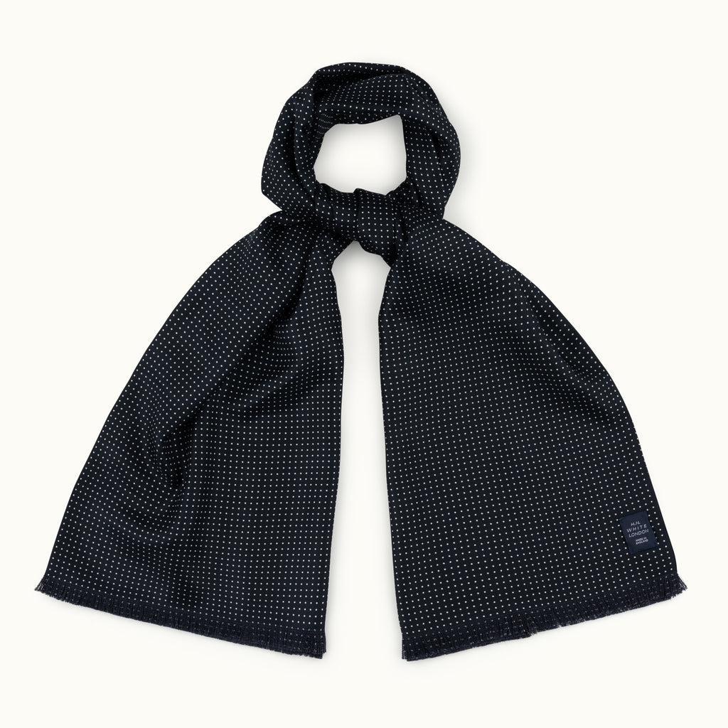 Black Spot Silk Scarf