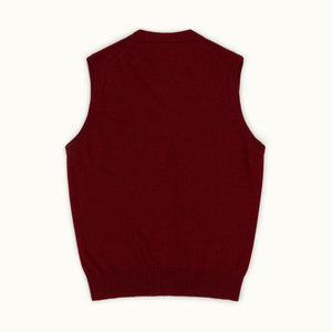 Russet Red Geelong Sleeveless Cardigan