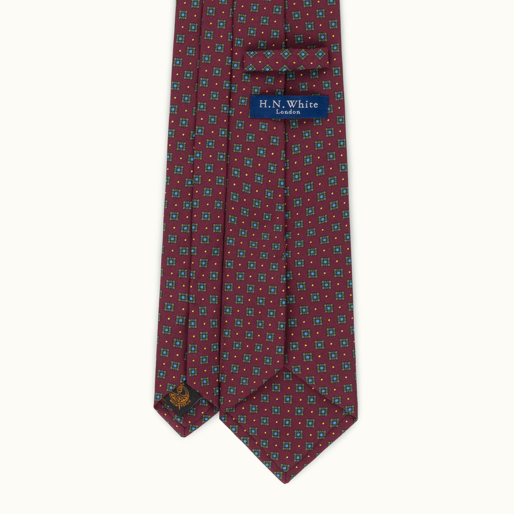 Burgundy Neat Irish Poplin Tie