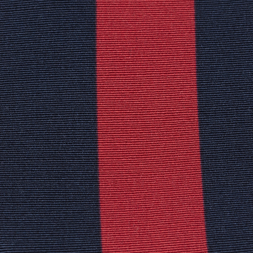 Navy & Red Block Stripe Irish Poplin Tie