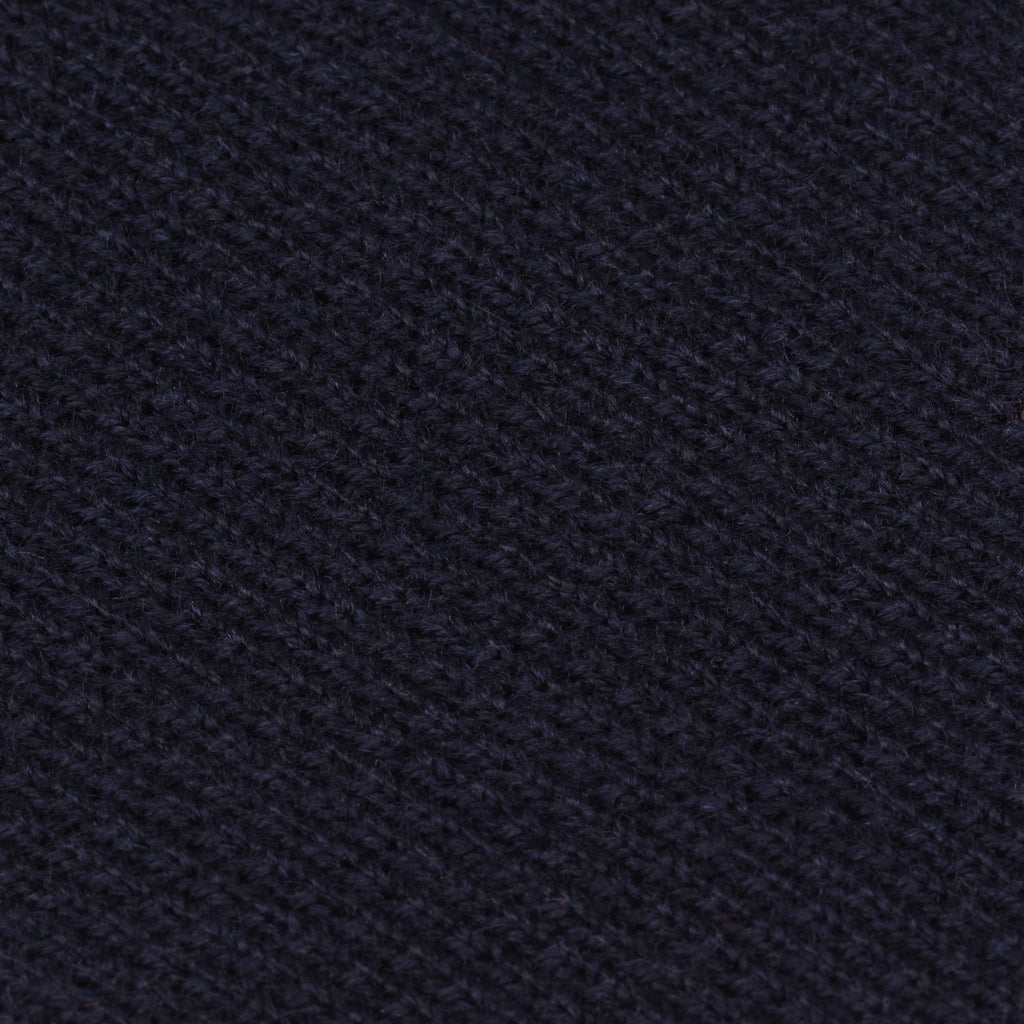 Navy Blue Cashmere Knit Tie