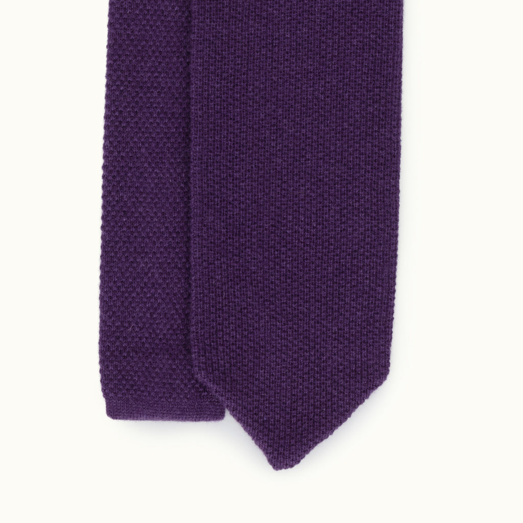 Purple Cashmere Knit Tie