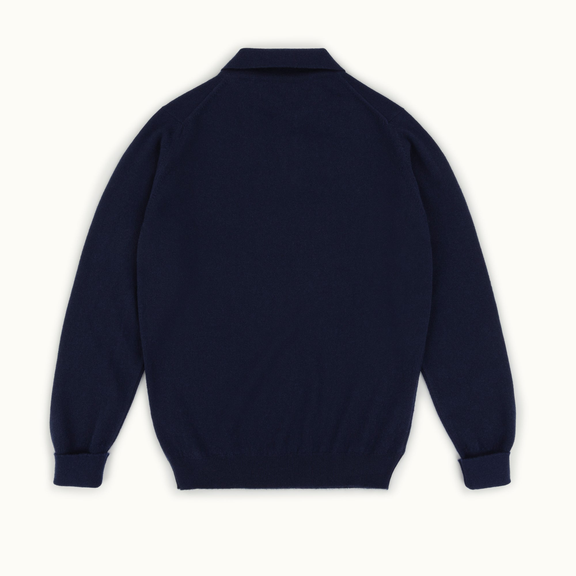 Navy Blue Cashmere Knitted Polo