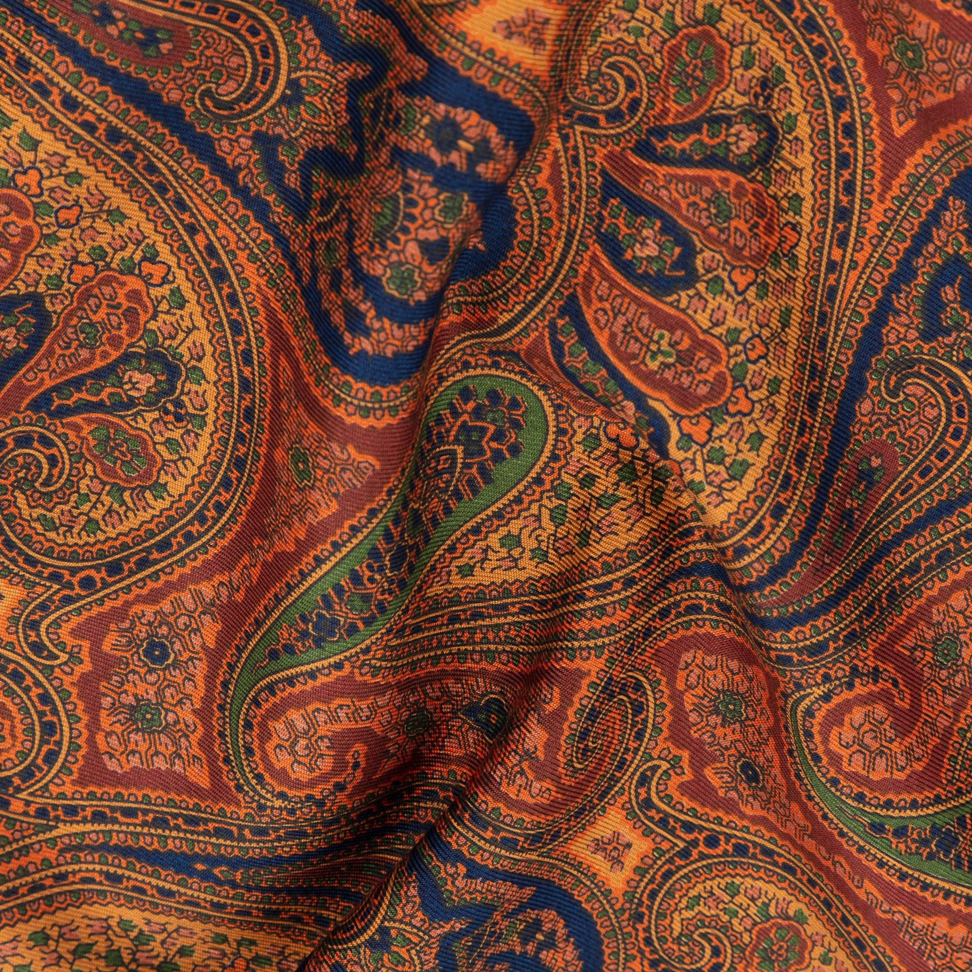 Rust Exploded Paisley Ancient Madder Silk Scarf