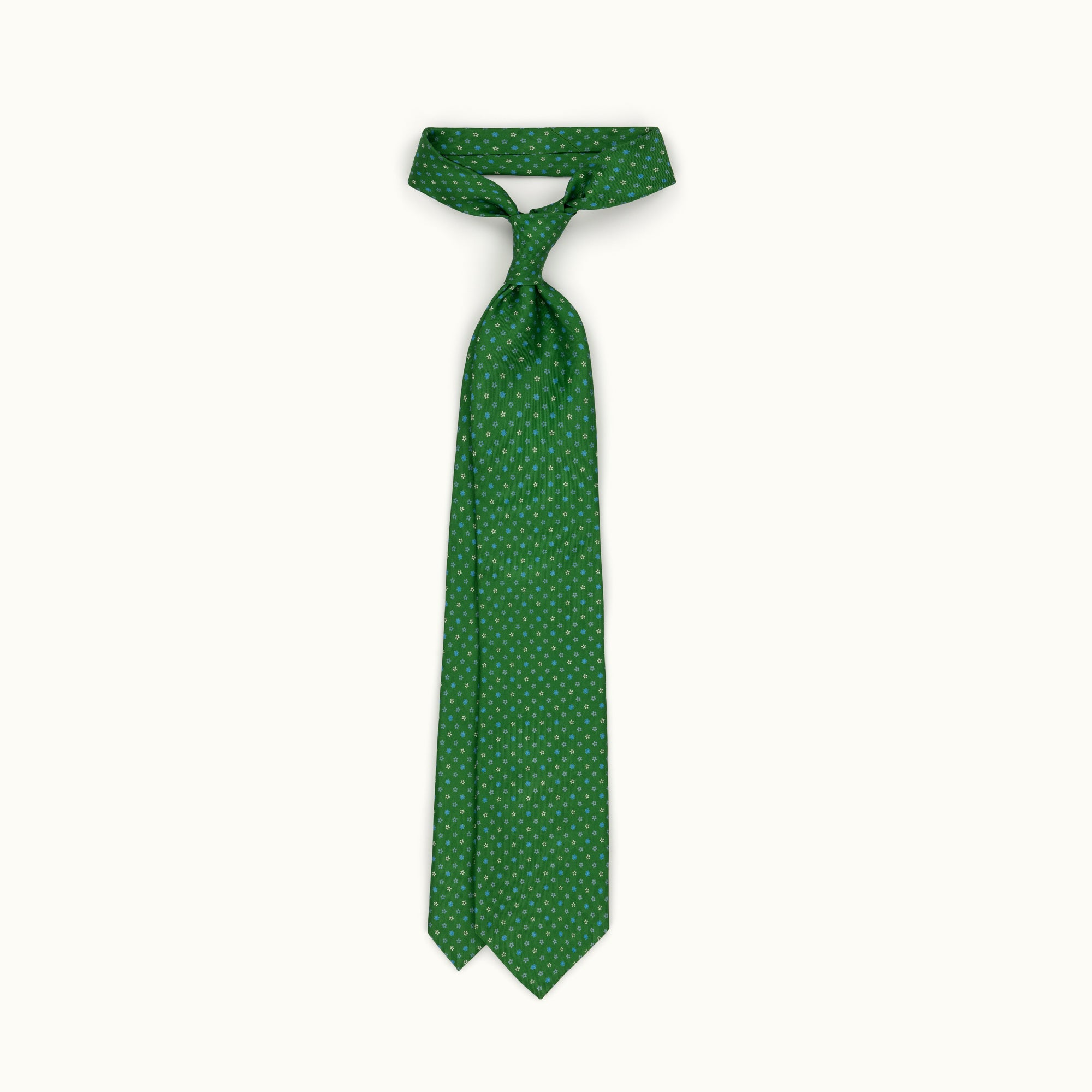 Grass Green Neat Silk Print Tie