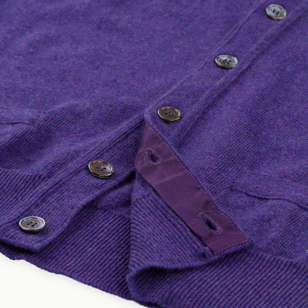 Purple Geelong Sleeveless Cardigan
