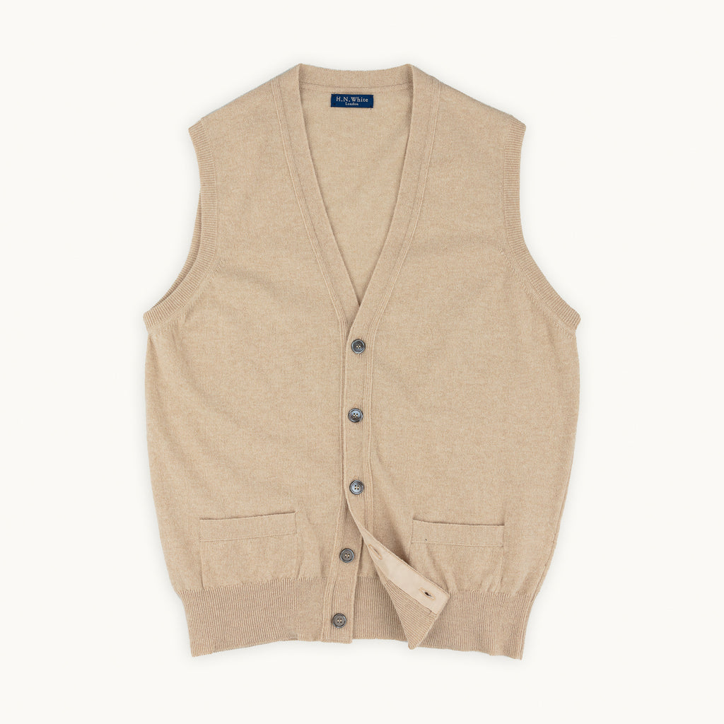 Oatmeal Geelong Sleeveless Cardigan