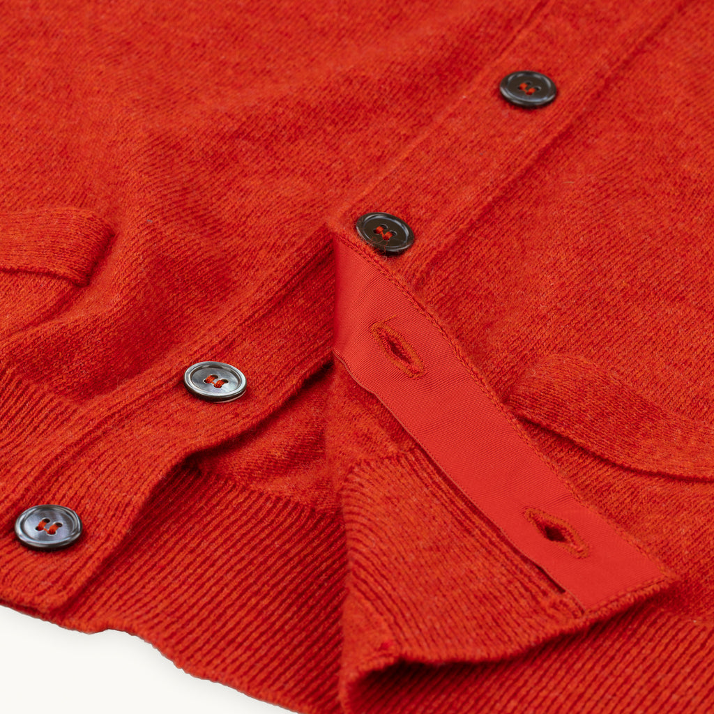 Burnt Orange Geelong Sleeveless Cardigan