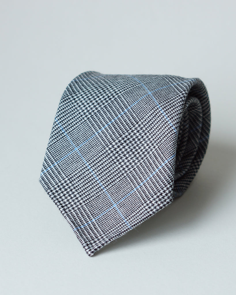 Grey Prince of Wales W.Bill wool tie