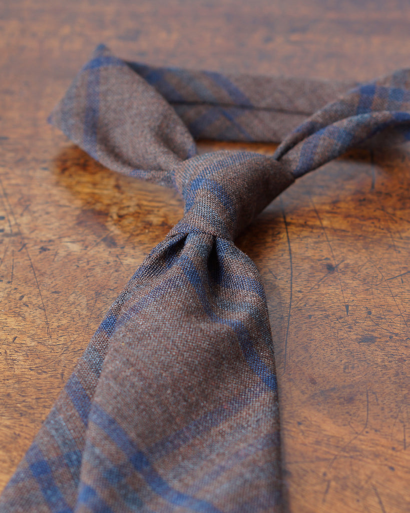 Russet check Fox Air wool tie