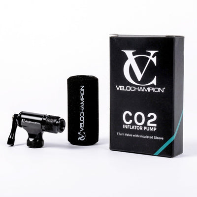 VeloChampion 2 in 1 CO2 Inflator Pump - Threaded 1 Turn Valve Head. Presta & Schrader Compatible