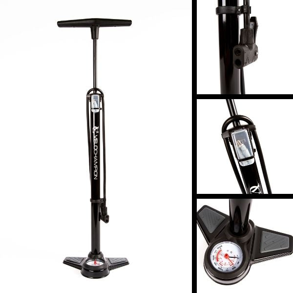 VeloChampion Pro High Pressure Cycling Floor/Track Pump