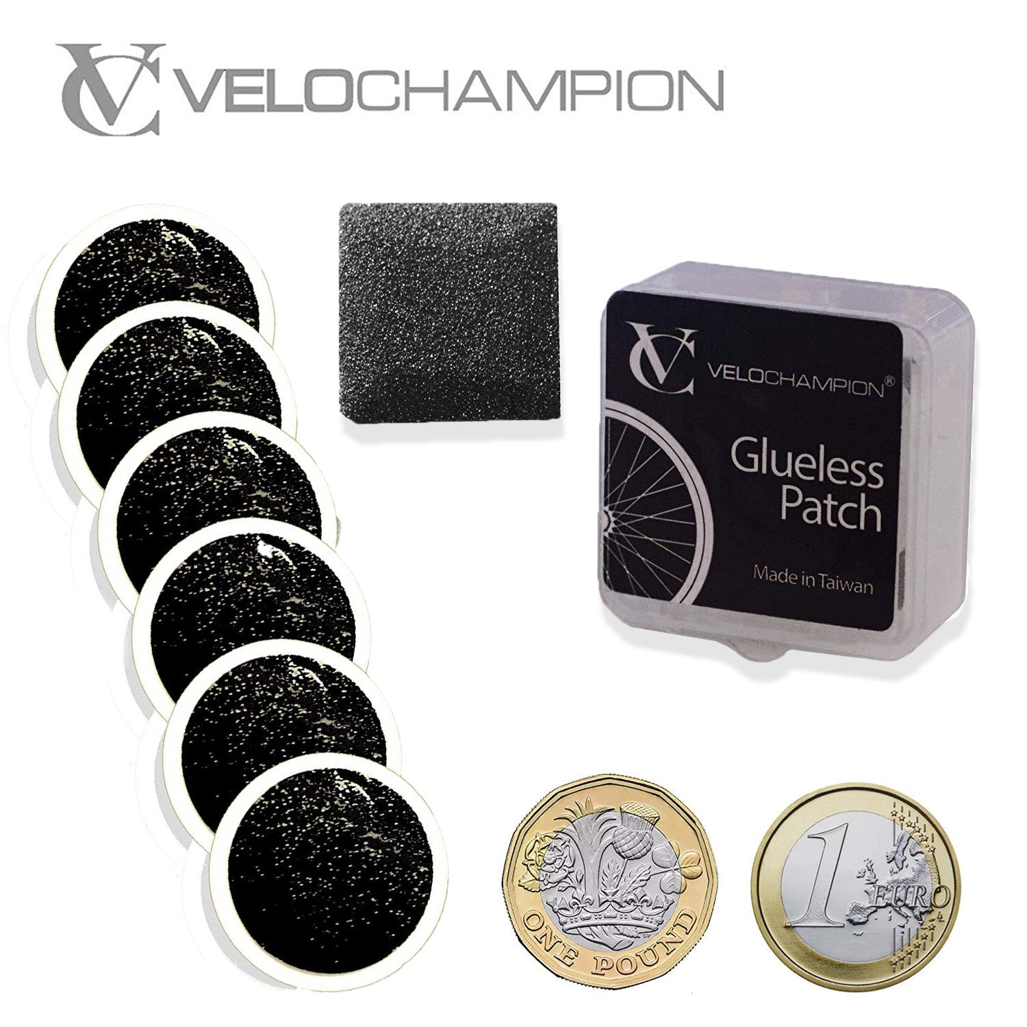 VeloChampion Self-Adhesive Bike Puncture Repair Patches Pack of 6 or Pack of 10