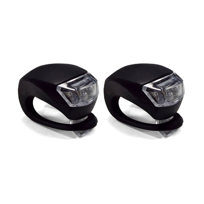 Velochampion Quick Fix (2pack) Bike Light Set - Front and Rear Black Silicone - Velochampion