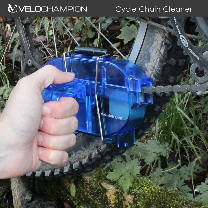 VeloChampion Bike Chain Cleaner - For all types of Bicycle Chains