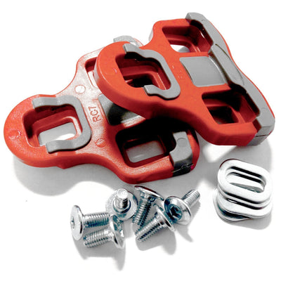 VeloChampion Look Keo Grip Pedal Cleats 6 Degree Float Red - Velochampion