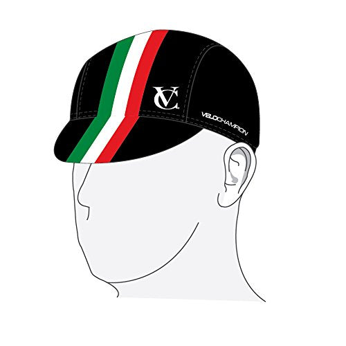 VeloChampion Under Helmet Cycling Cap - Italian Flag Design - One Size - Velochampion