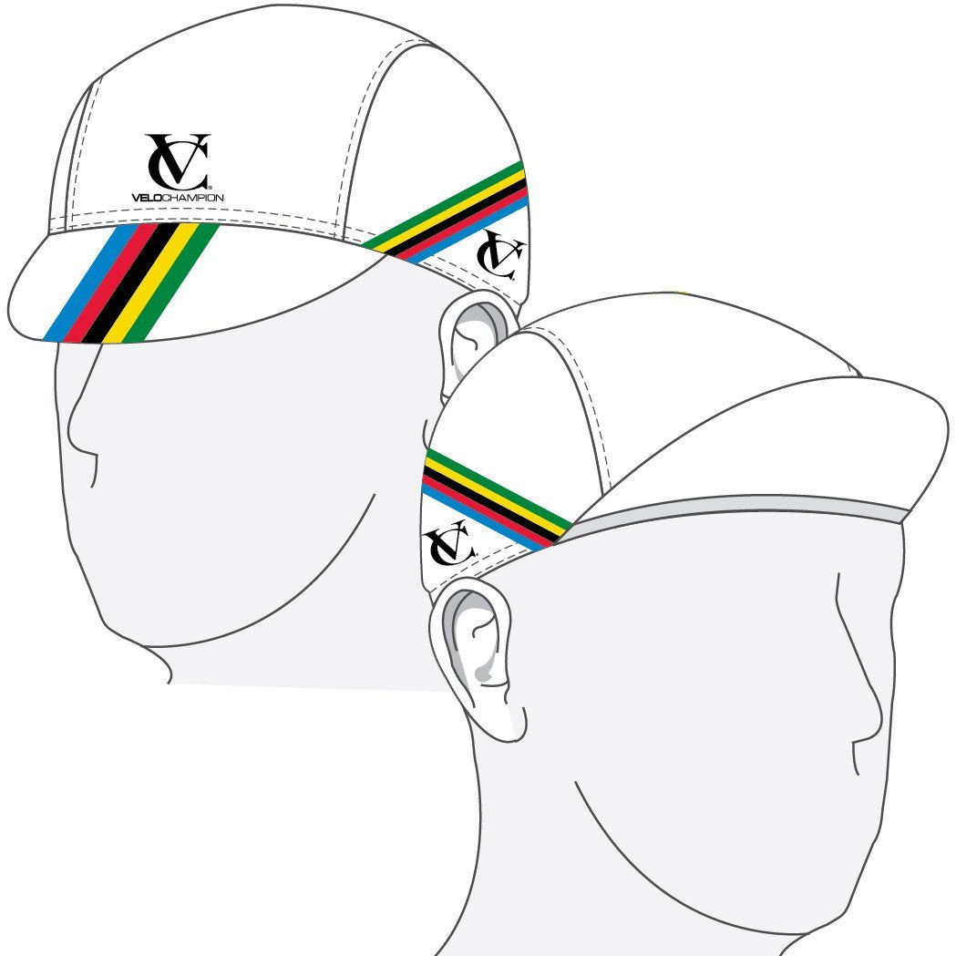 VeloChampion Under Helmet Cycling Cap - World Cup Design - One Size - Velochampion
