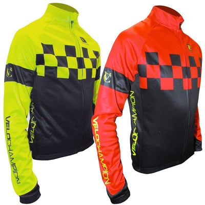 VeloChampion Warm Fleece Cycling Jacket for Autumn/Winter With Warming Tech