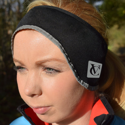 VC Thermo Tech Cycling Fleece Lined Ear Warmer Headband – Wind resistant, stretch fit head warmer