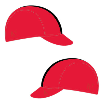 VeloChampion Cycling Tech Cap - Red with Black Band - Velochampion