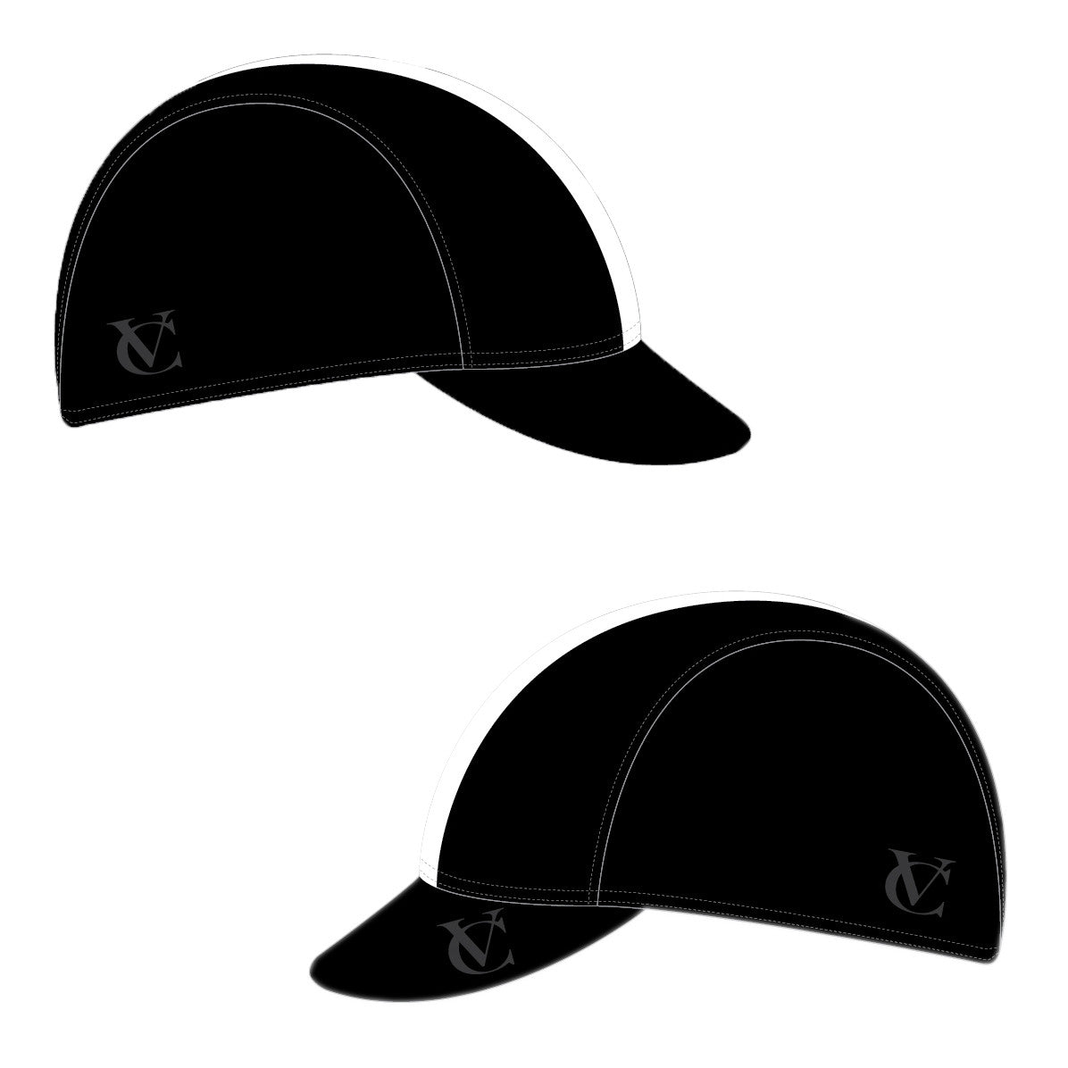 VELOCHAMPION Cycling Tech Cap - Black with White Band - Velochampion