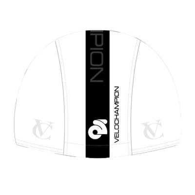 VeloChampion Cycling Tech Cap - White with Black Band - Velochampion