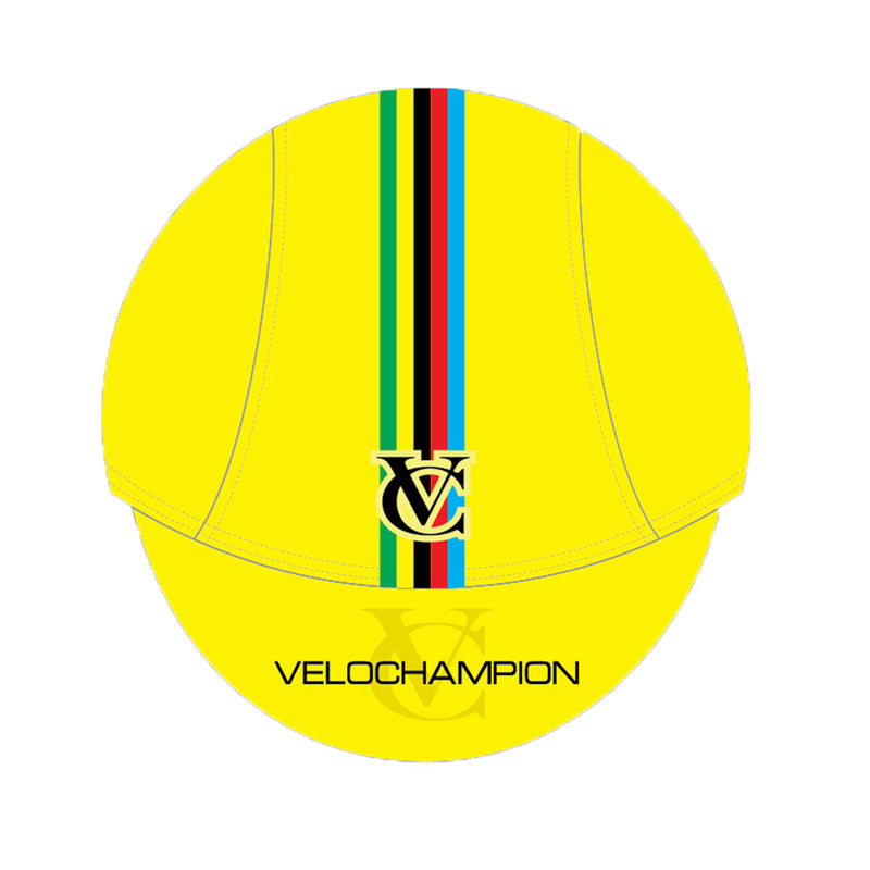VeloChampion Cycling Tech Cap - Yellow with World Champs Band - Velochampion