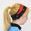 VC Neck warmer snood 6 in 1 uses worn as a headband