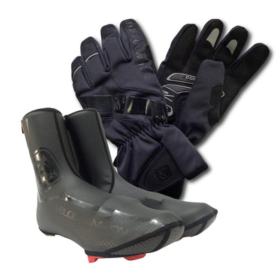 VC COMP PRO BUNDLE: Winter Gloves and Overshoes - Velochampion