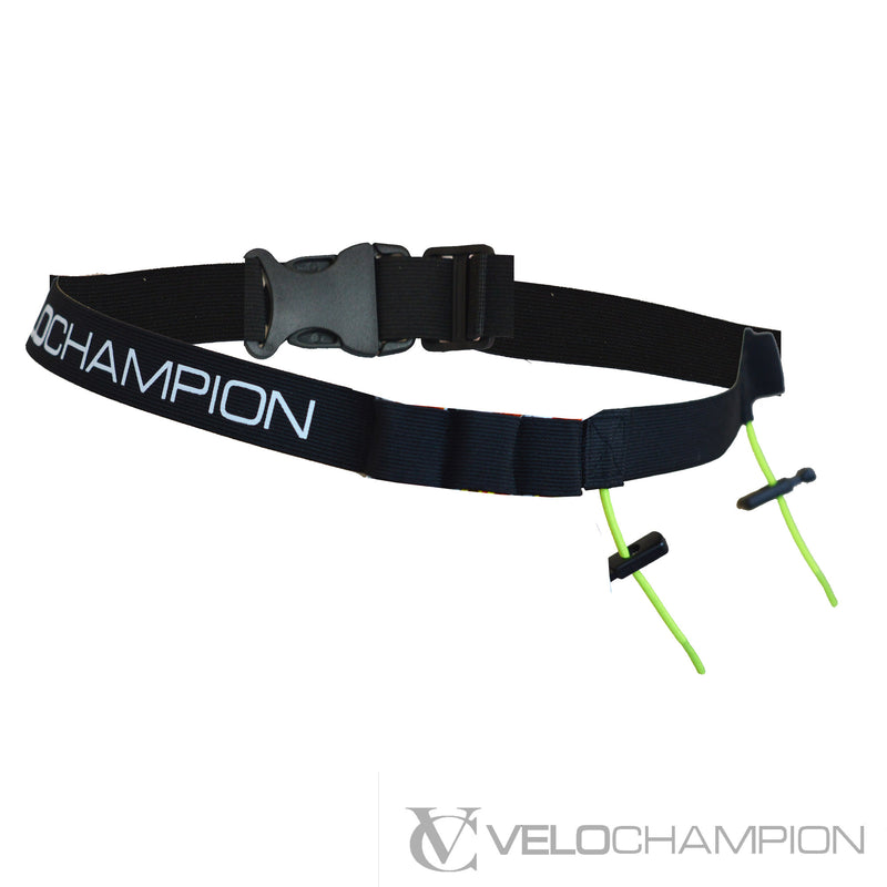 2 Race Number Belt - 6 Gel Pack Hydration Holder - Velochampion