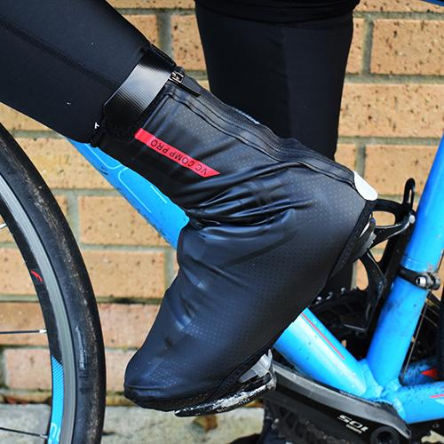 VeloChampion Overshoes - Lightweight, Fleece Lined and Water Resistant. Ideal for Winter Cycling