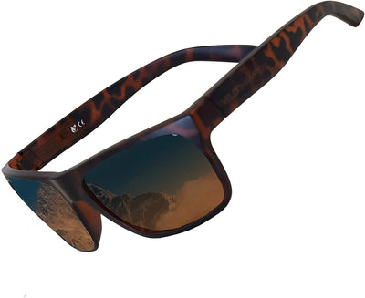 Milan brown fixed frame casual sports sunglasses | VeloChampion