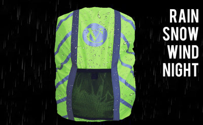 VELOCHAMPION High Visibility Backpack Cover - Reflective Stripes for additional visibility - Velochampion
